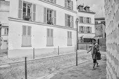 Paris 13 (mariefrance2010) Tags: african paris paris13 architecture cobblestones lampost narrowstreet neighborhood shutters streetphotography woman