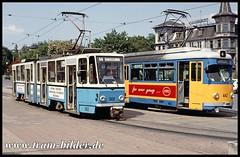302-1992-05-24-1-Hauptbahnhof (steffenhege) Tags: gothawagen thüringerwaldbahn ckd duewag gtg kt4d 302 442 strasenbahn