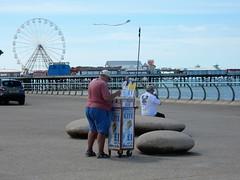 Blackpool Micro Kites For Sale! (deltrems) Tags: blackpool promenade lancashire fylde coast mico kite irish sea big wheel central pier