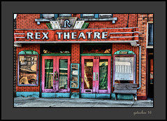 Rex Theater - Morenci (the Gallopping Geezer '4.8' million + views....) Tags: rextheater movie cinema theater old historic smalltown backroad backroads morenci mi michigan tonemap tonemapped processing photomatrix canon 5d3 geezer 2016 sign signs signage