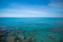 As clear as it can get (Vagabundina) Tags: scenery landscape view sea seascape water waterscape clearwater blue green ocean rocks horizon atmosphere ambience nature italy capovatican