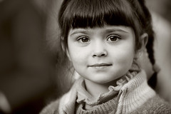 street portrait (photoksenia) Tags: street portrait girl child children sepia monochrome eyes