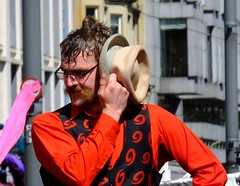 Carnival 2017 044 (byronv2) Tags: peoplewatching candid street performer carnival festivalcarnival edinburghjazzbluesfestival festival festivalcarnival2017 carnival2017 colour colours costume princesstreet newtown edinburgh edimbourg scotland edinburghjazzbluesfestivalcarnival man hat portrait