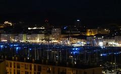 Le Vieux Port by night (Hélène_D) Tags: hélèned france provencealpescôtedazur provence paca bouchesdurhône marseille vieuxport port harbor merméditerranée mediterraneansea méditerranée mer sea boat bateau