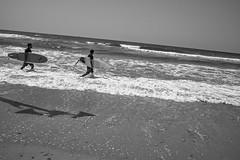 Let's go surfing! (Ivona & Eli) Tags: surfers surfing people waves sky water herzliya israel middleeast horizon