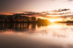 Sunset (Stéphane Sélo Photographies) Tags: france lyon pentax pentaxk3ii saône ain blending coucherdesoleil eau fleuve landscape paysage river rivière sunset water