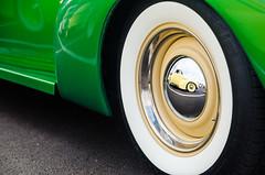 You got your Olds in my LaSalle! (GmanViz) Tags: gmanviz color car automobile detail goodguysppgnationals nikon d7000 chrome 1940 lasalle 1935 oldsmobile wheel whitewall tire fender reflection
