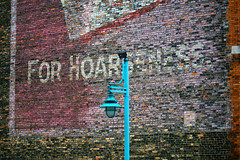 For Hoarseness (Rick Schuett) Tags: rickschuett wisconsin summer2017 hoarseness milwaukee milwaukeewi wall sign old streetlight schuett photographer artist photographic