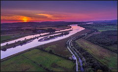 River Foyle sunset. (Ken Finlay) Tags: river foyle sunset donegal tyrone strabane water reeds