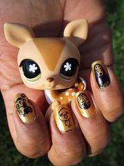 Ghibli Nails (flores272) Tags: ghiblinail studioghibli littlestpetshop lps vintagelps toy toys nail nails nailart nailstamping
