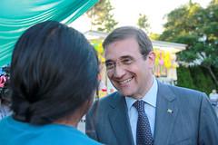 Pedro Passos Coelho em visita à feira FicaVouga