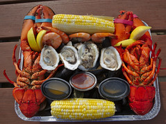 IMG_3655 (kcweissman) Tags: canon eos tamron food lobster shrimp oysters clams