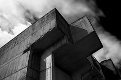 (2nd Sight Photography) Tags: canon brunel university lecture theatre clockworkorange bw mono concrete brutalism 60s eos building cold angular 2ndsightphotography