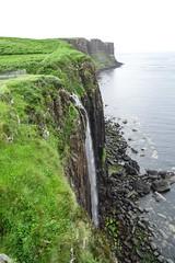 Kilt Rock (Carly Sabatino) Tags: kiltrock scotland waterfall isleofskye ocean water greengrass nature travel vacations holidays