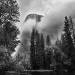 Gathering Clouds Spring Storm, El Capitan (Black & White, Yosemite National Park) thumbnail