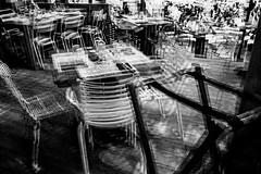 Rocking Chairs III (Olivier Moges) Tags: rockingchaireiii abstract blackwhite blackwite doubleexposure doubleexposition experimentation grainy hicontrast multipleexposures monochrom monochrome noirblanc noiretblanc oliviermoges oliviermogès photography stuportremorsseries