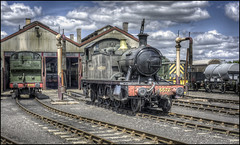 Outside the Loco Sheds (Darwinsgift) Tags: didcot steam centre museum locomotive train rails railway hdr voigtlander 58mm f14 nokton photomatix nikon d810 oxfordshire