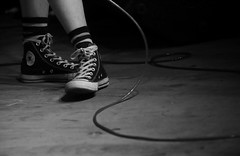 Cons (peterkelly) Tags: digital canon 6d guelphlakeconservationarea guelph ontario canada northamerica concert music musician mic microphone mike 2017 hillside hillsidefestival chastity woman cons converse bw cord feet shoes guitarist guitar