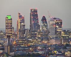 London (Umbreen Hafeez) Tags: skyline architecture city building london cityscape uk gb england night dark low light long exposure twilight blue hour outdoor dusk tower skyscraper river