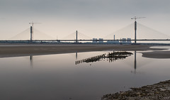 Mersey Gateway 02 jul 17 (Shaun the grime lover) Tags: bridge reflection river water mersey runcorn cheshire estuary wigg island tidal tide mudflats mud fiddlers ferry power station