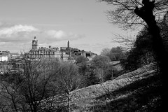 No. 1 Princes Street and Calton Hill (Fearghàl Nessbank) Tags: nikon d700 blackwhite mono monochrome scotland edinburgh caltonhill no1princesstreet cityscape