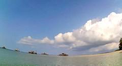 Sea pool (SmartFireCat) Tags: bintan indonesia indonesian beach sea mar mer playa plage strand island fishing fish ocean isla pulau koh riau oceano pantai see arena sand horizon sky himmel ciel cielo panoramic pano panorama polaroid cube cubeplus cloud nube blue blau bleu azure azul