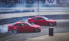 M3 Musk in tandem (tomjech) Tags: beamer m3 e46 coupe musk dom dommusk poland wroclaw speedhunters shot stance stanced stanceworks speed stancenations show stancenation slammed style street shine drift drifting raceism raceism2017 red cars tjp iamthespeedhunter euro car