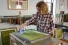 Tanja Zimmermann in the Studio (Women's Studio Workshop) Tags: monoprint printmaking silkscreen screenprinting photogram photography collage printmakingresidency artistresidency womensstudioworkshop womenartists