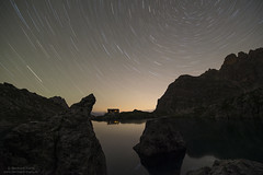 Star trails over Laserzsee N°2 (Bernhard_Thum) Tags: nikond800e distagon1528zf zf2 distagont2815 nature alps laserzsee lienzerdolomiten elitephotography landscapesdreams