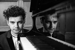 Reflection (Stephen L D'Agostino) Tags: blackandwhite reflection pianist piano