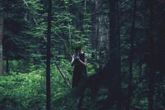 Forest (Mariia Maltseva) Tags: forestvase fern dress girl bushes needles twigs leaves bouquet