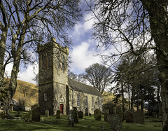 Ettrick Church (TrotterFechan) Tags: 3nature 4places cemetary church ettrick trees
