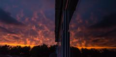 Sunset Little Sandhurst 26 July 2017 (3) (BaggieWeave) Tags: berkshire sandhurst littlesandhurst sunset redsky reflection clouds fireinthesky