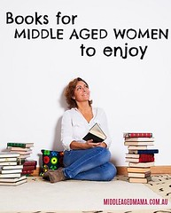 books for middle aged women (jancamilleri) Tags: beautiful realpeople wisdom maturewomen women females largegroupofobjects literature adult smiling reading resting holding studying intelligence learning beauty caucasianethnicity oneperson relaxation happiness education lifestyles indoors cheerful livingroom domesticroom homeinterior book casualclothing novel