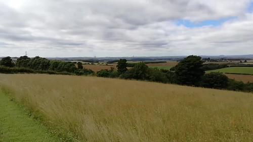 view from the Flodden Monument, Branxton, July 2017