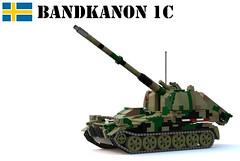 Bandkanon 1C (Matthew McCall) Tags: lego military army war moc sweden swedish cold bandkanon 1c armored vehicle