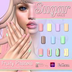 .:Sugar Nails:. Fruity Pastels AD (Sugar Nails Owner) Tags: secondlife nails applier