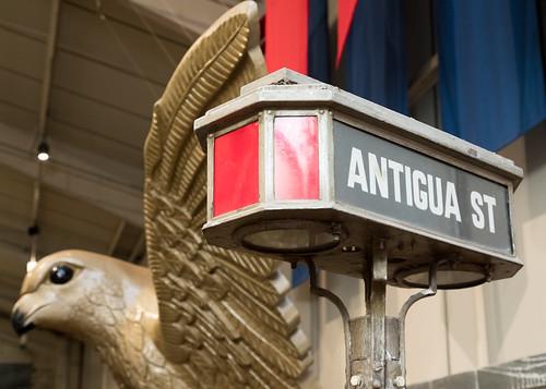 Antigua Street sign   Crich Tramway Village-43
