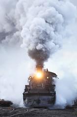 EXHAUST BLAST (dayvmac) Tags: steam steamlocomotives chama newmexico cumbresandtoltecscenic railway trains railroad locomotive