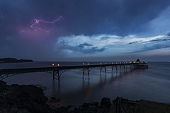 5am Lightning Storm over Clevedon Pier, Somerset (MelvinNicholsonPhotography) Tags: clevedonpier somerset pier storm lightning predawn outdoor seascape landscape nisifilters gitzo manfrotto canon5dmk4 canon1635mmf4 seaside water shoreline clevedon ocean sea rocks arches