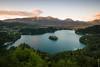 SLO / Julische Alpen - Bleder See vom Osojnica aus gesehen