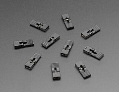"""Jumper Shunt with Handle (0.1"""" / 2.54mm) – 10 Pack (adafruit) Tags: 3525 prototyping accessories jumperwire wiring"""