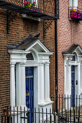 Ireland - Dublin - Parnell Square (Marcial Bernabeu) Tags: marcial bernabeu bernabéu ireland irlanda dublin dublín parnell square doors building facade fachada edificio puertas bird pajaro pájaro blue azul