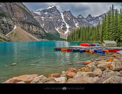 Moraine Lake in Banff National Park, Alberta, Canada (Ann Badjura Photography) Tags: rockies canada ctvphotos scenery landscape mountains pnw photography lake mountain morainelake alberta annbadjura canadianrockies westcanada valleyoftenpeaks discoverpnw pacificnorthwest photonewsgallery
