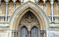 Wells Cathedral, west front central portal