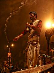 Varanasi - Puja (sharko333) Tags: travel reise voyage asia asien asie india indien varanasi benares portrait street people man priest brahman olympus e5