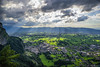 Beautiful High(light)... (explored 02.07.2017) (acbrennecke) Tags: achimbrennecke landscape rheintal dornbirn austria sunset clouds ray sun green mountain karren nikon5500 nikon
