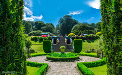 Gatsby? What Gatsby? (marksmorton) Tags: yorkshire sky symmetry path travel wanderlust fountain grandhouse gatsby newyork country countryside england