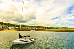 The Tranquillity Of An Early Morning In Cullen Harbour (williamrandle) Tags: tranquillity cullen banffshire moray uk scotland northeastscotland harbour breakwater stone walls boats sea reflections buildings sky clouds outdoors landscape seascape peaceful beauty nikon d7100 sigma1835f18art buoyant