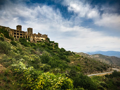 Monastery Sant Pere de Rodes (gitte123) Tags: monastery sky clouds landscape spain gerona elportdelaselva